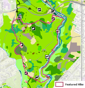 Map of Boulder Bridge Hike