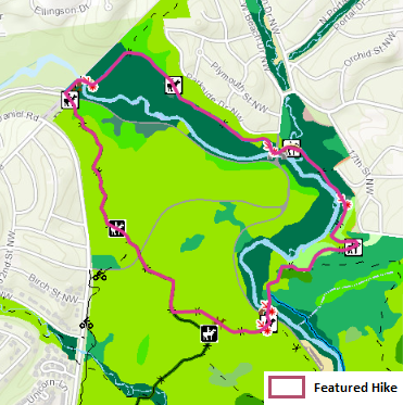 Map of Floodplain Forest Hike