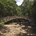 Boulder bridge in Rock Creek Park