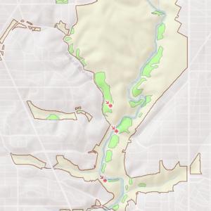Location of the Oak – Beech / Heath Forest in Rock Creek Park